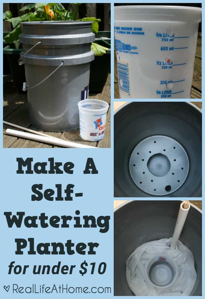 How to Make A Self-Watering Planter for under $10